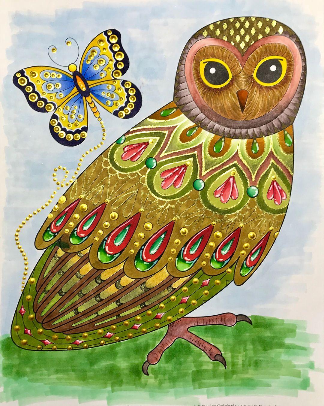 Owl From Thaneeya Mcardle S Groovy Owls Coloring Book Owl Coloring Pages Coloring Books Owl