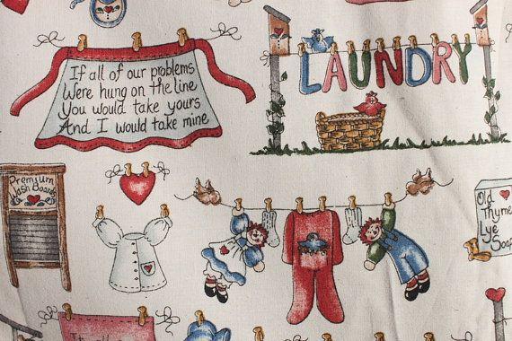Vintage Wash Laundry Wash Board Fabric Dianna By Binguspingusart 10 00 Vintage Laundry Fabric Washing Laundry