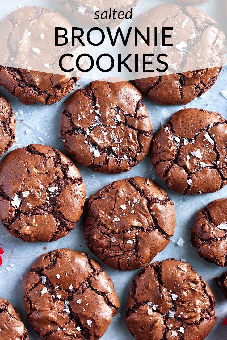 Salted Brownie Cookies | brownie cookies | brownie cookies recipes