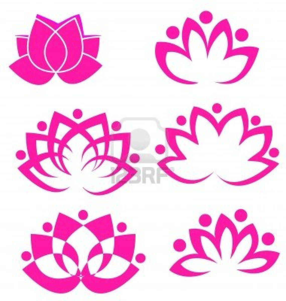 Conjunto De Vectores De Flores De Loto Logotipo Addicted To Ink