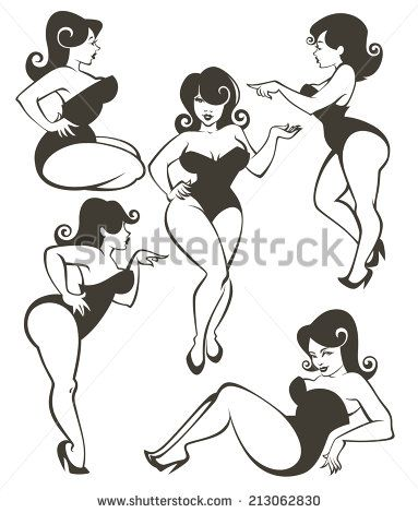 Can speak vector pinup clip art