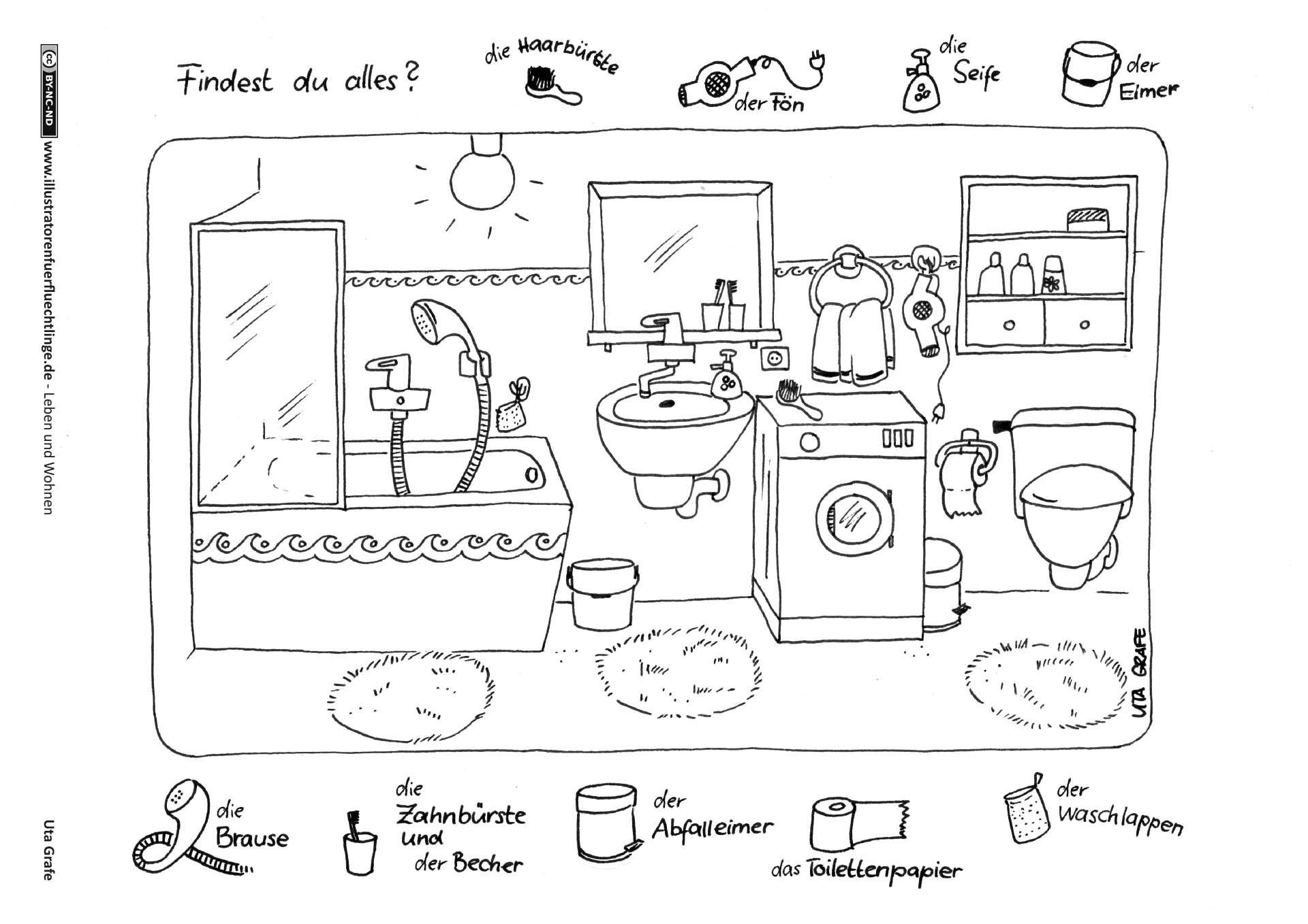 download als pdf leben und wohnen badezimmer grafe daz badezimmer deutschkurs und deutsch. Black Bedroom Furniture Sets. Home Design Ideas