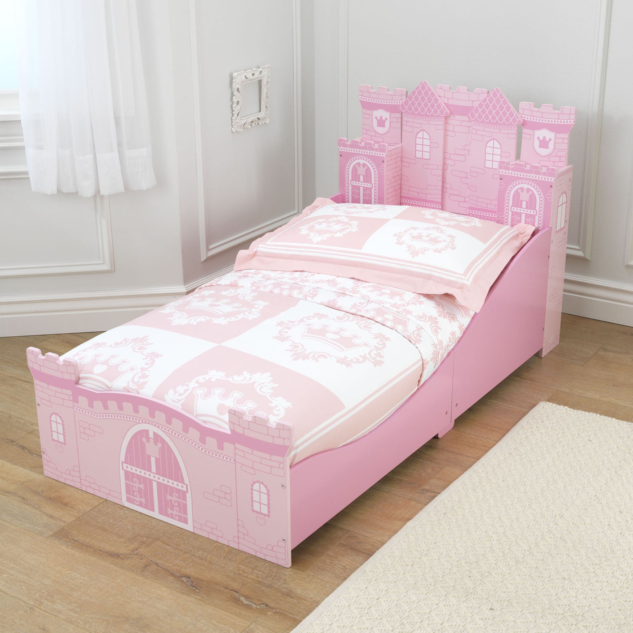 Bedroom furniture for girls castle - Kid Kraft Princess Castle Toddler Bed 76260
