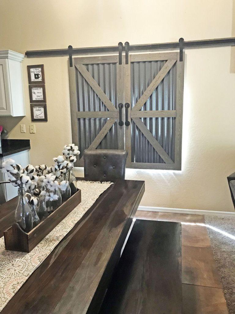 Diy barndoor window shutters barnwood galvanized steel