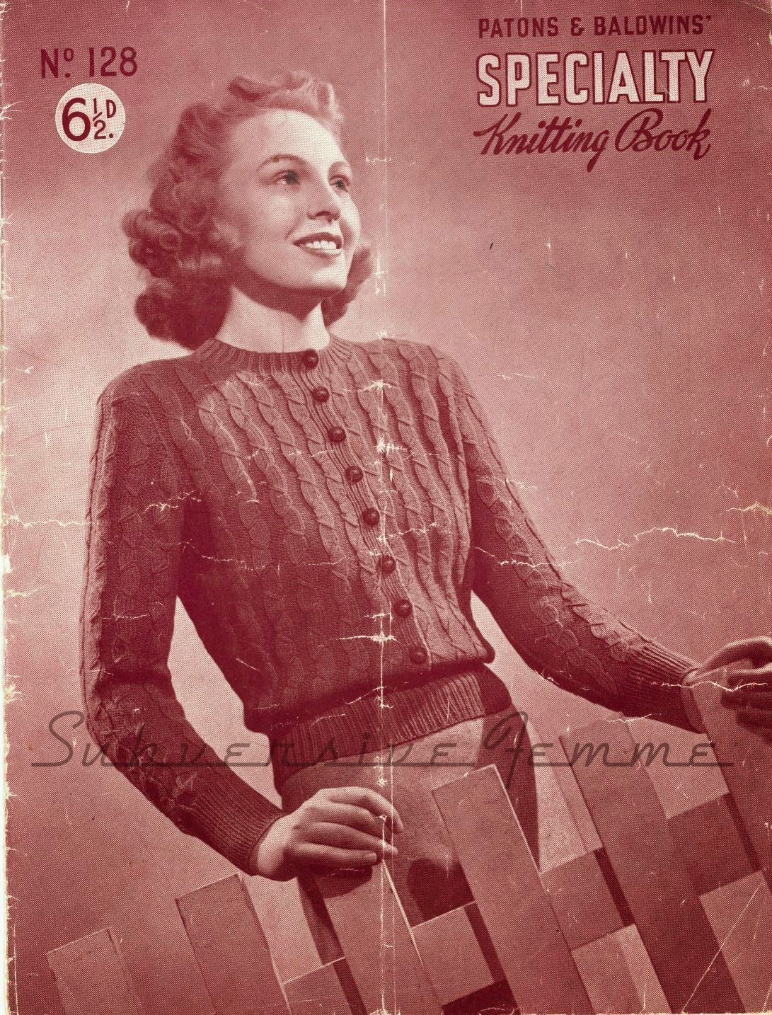 The Vintage Pattern Files: 1930\'s Knitting - Aileen, a jumper ...