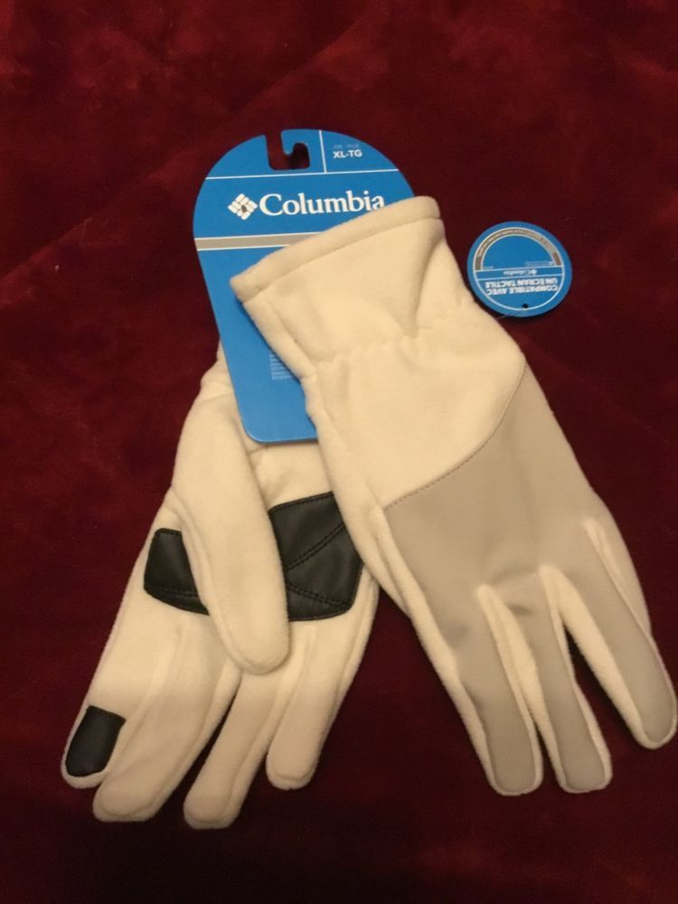 660c427144460a NWT Columbia Womens Touch Screen Winter Gloves X-Large Ivory Orig. $30  #fashion