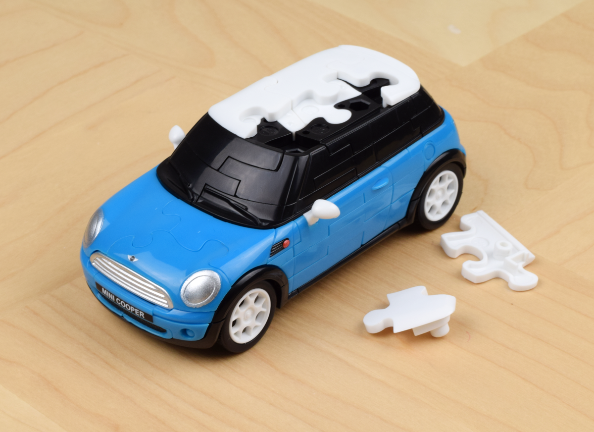 3D Mini Cooper Puzzle Jigsaw With 64 Pieces The Wheels Turn Its Cute