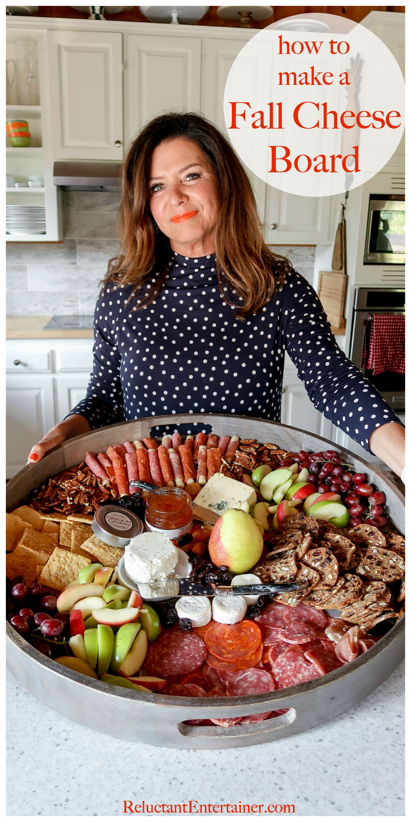 How to make a Fall Cheese Board - Reluctant Entertainer