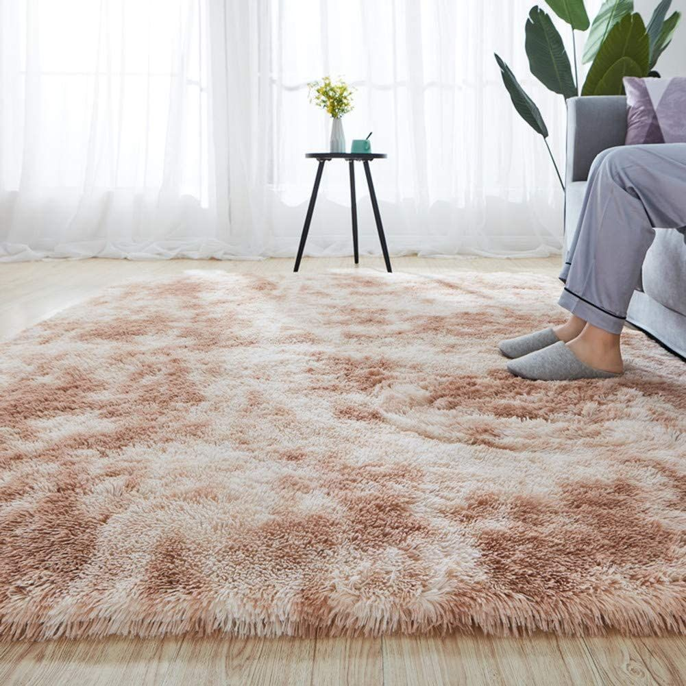 Soft Plush Shag Area Rug High Pile Fluffy Carpet Non Slip Thick Large Floor Rugs Luxury Cozy Shaggy Kid Room Carpet Large Floor Rugs Rugs In Living Room