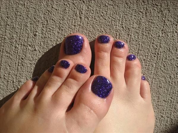 Purple Glitter And Maniq Rock Star Toes By Enjoime From Nail Art Gallery