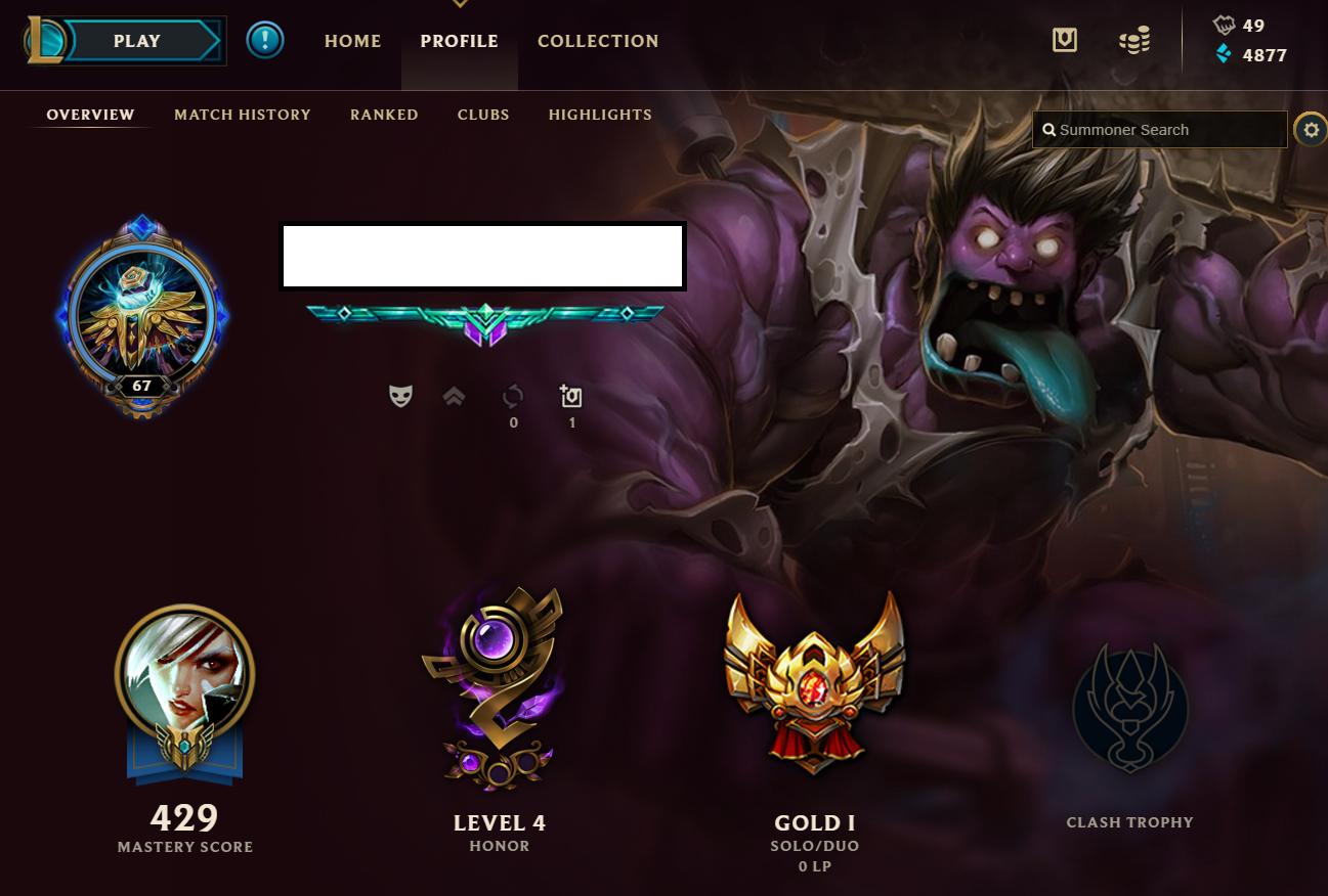 EUNE] League of Legends Account | LOL | Gold I | 106