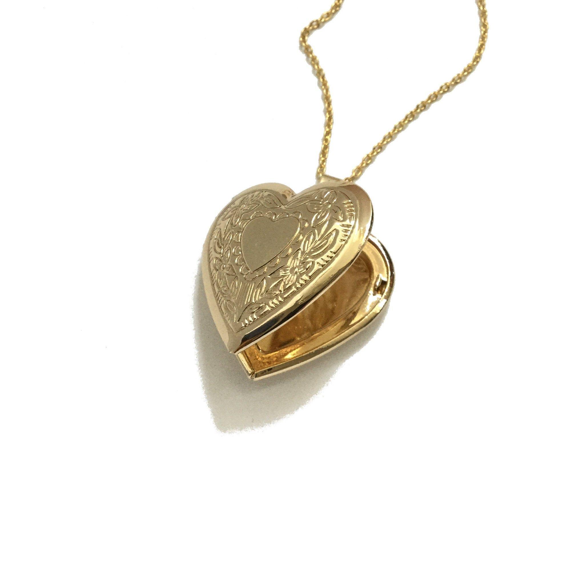 Photo of Herz Medaillon Halskette, florale Medaillon, romantische Liebe Medaillon, Muttertagsgeschenk Medaillon, Freundin Geschenk, goldene Messing Medaillon, goldenes Medaillon