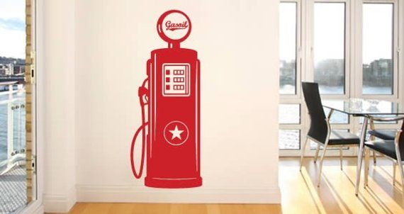 Gas Pump Vinyl Wall Decal 12