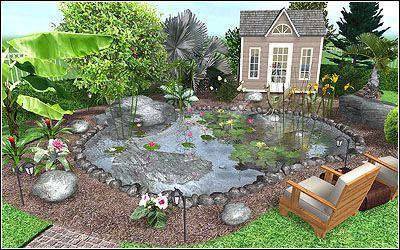 Beautiful Garden Pond Landscape Design Software Landscape Design Program Free Landscape Design Software