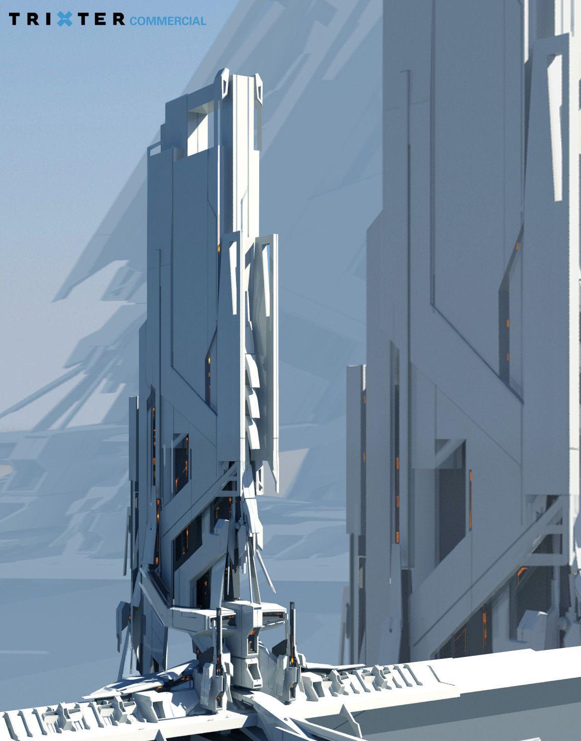 Artstation Environment Concept Art Michael Oberschneider Environment Concept Art Futuristic Architecture Sci Fi Concept Art