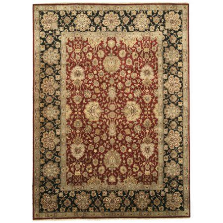 Eorc 9181 Hand Knotted Wool Jaipur Rug, 8'11 x 12'4, Red