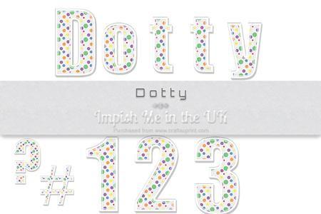 Dotty Numbers Symbols  on Craftsuprint #cardmaking #scrapbooking #papercrafts #digiscrap