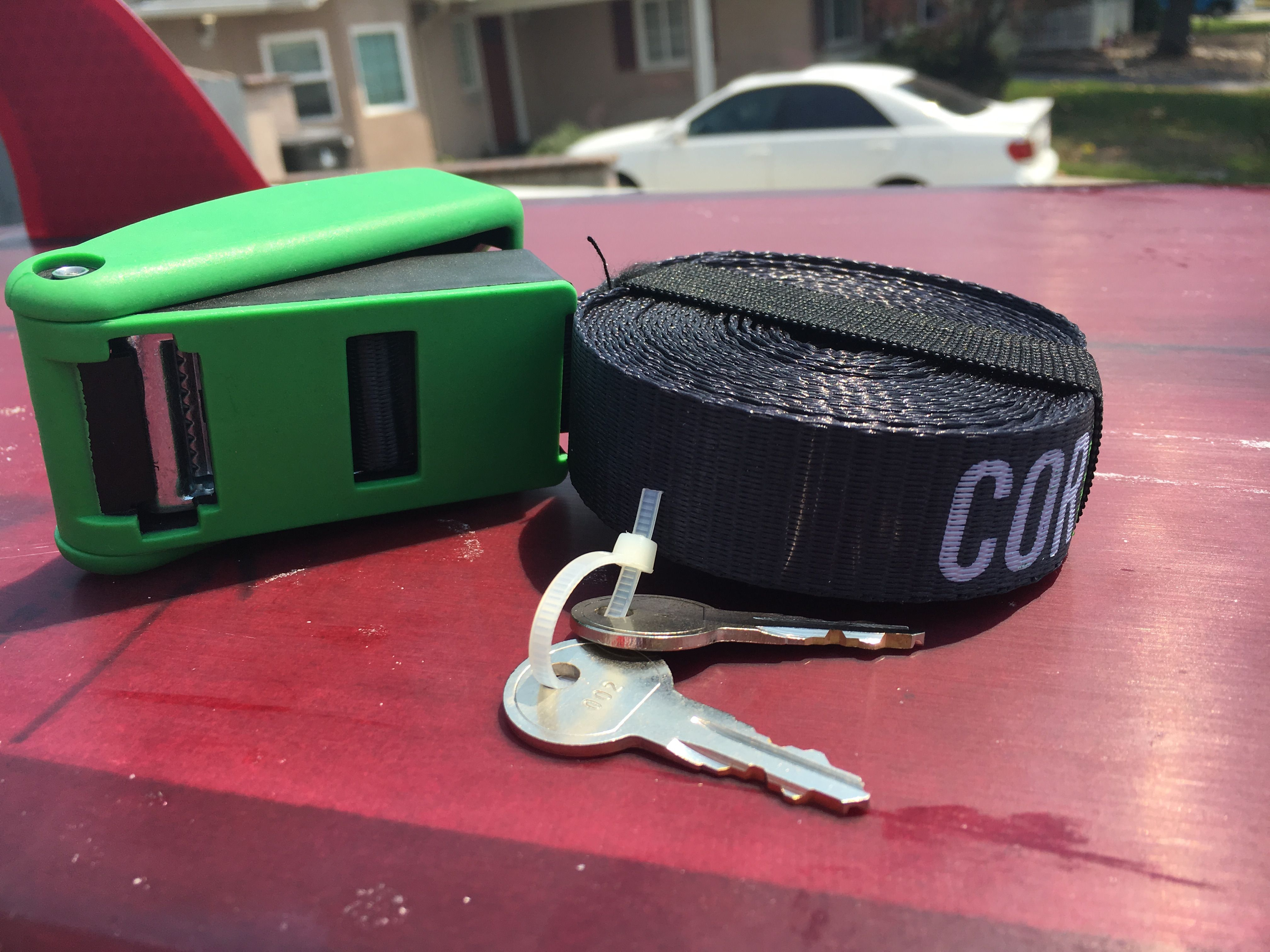 Cor surf locking tie down strap 15ft of solid strap that