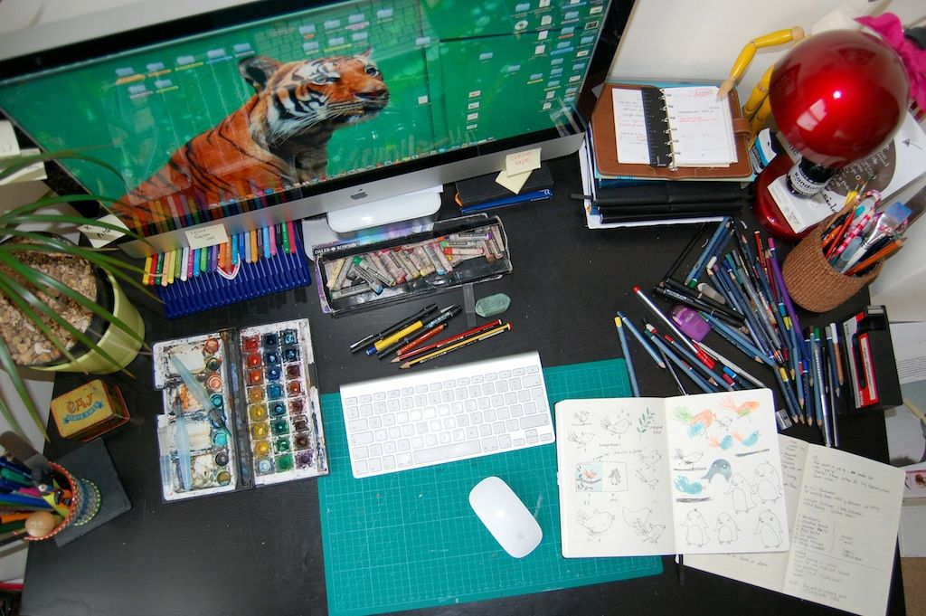 Desk9 copy Desk, Cool stuff