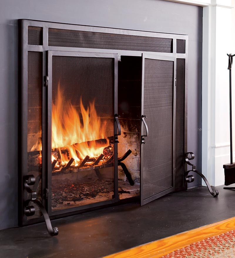 Fireplace Screeens Choosing Fireplace Doorsscreen Home