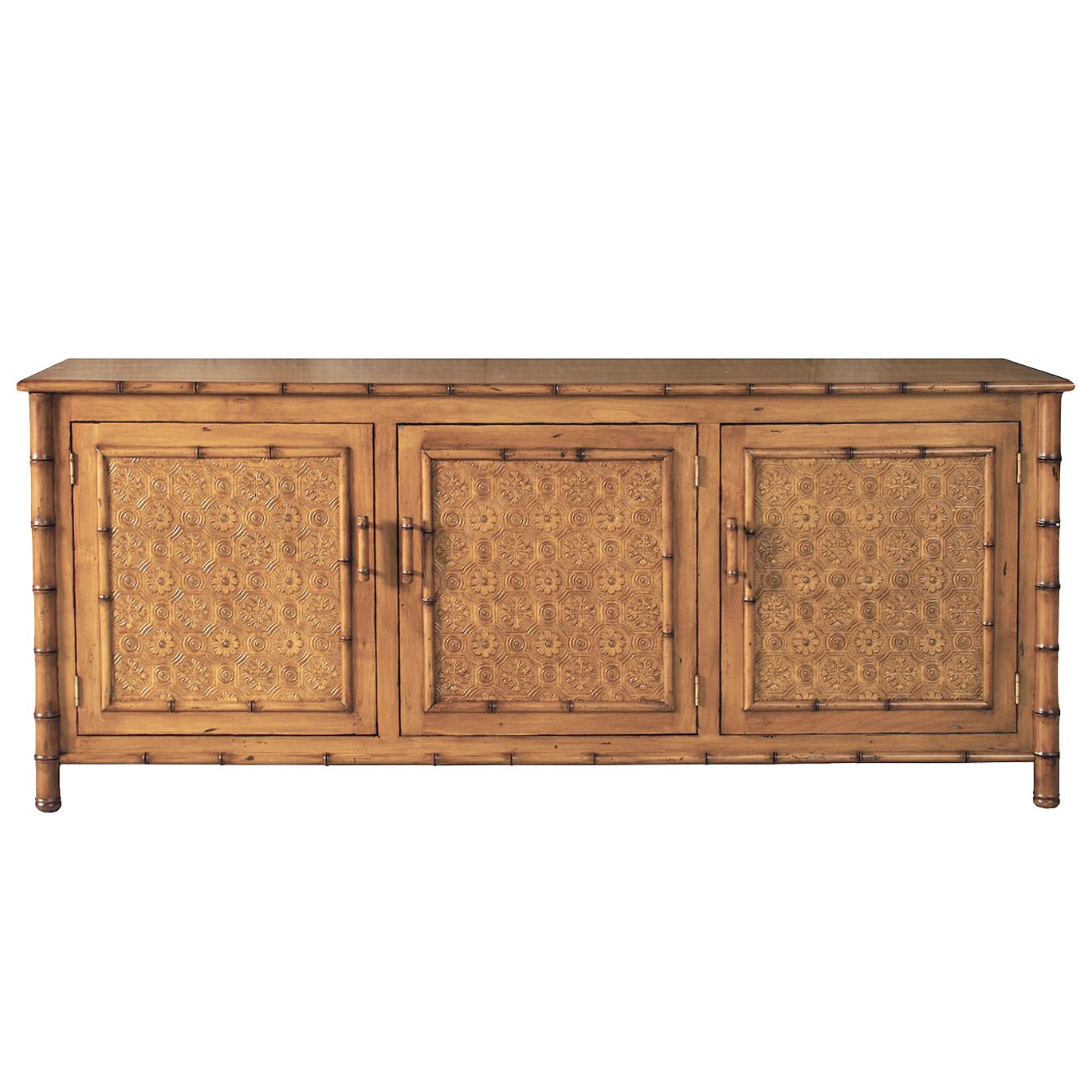 Faux Bamboo Entertainment Console @LaylaGrayce