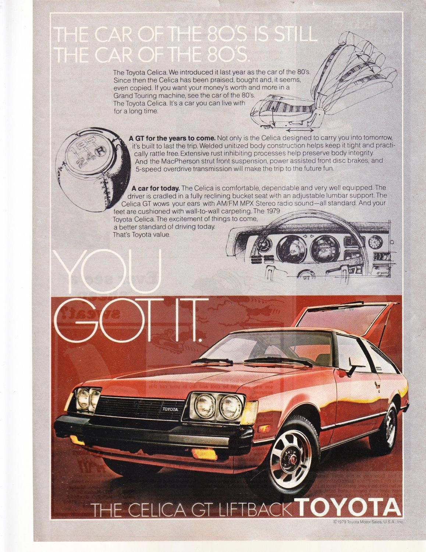 Toyota Celica Gt Vintage Magazine Advertisement Vwkarmannghiaaccessories Toyota Celica Toyota Classic Cars