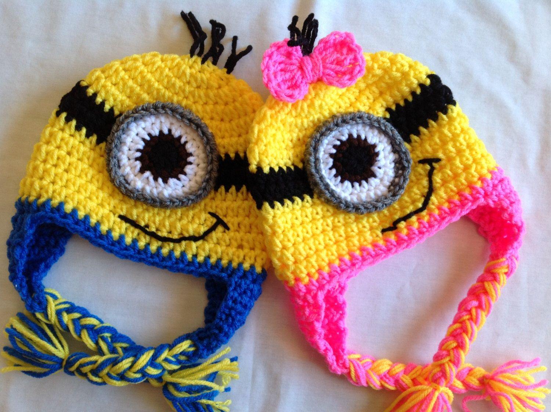 Despicable Me Crochet Hat - Blue or Pink Minion | Pinterest