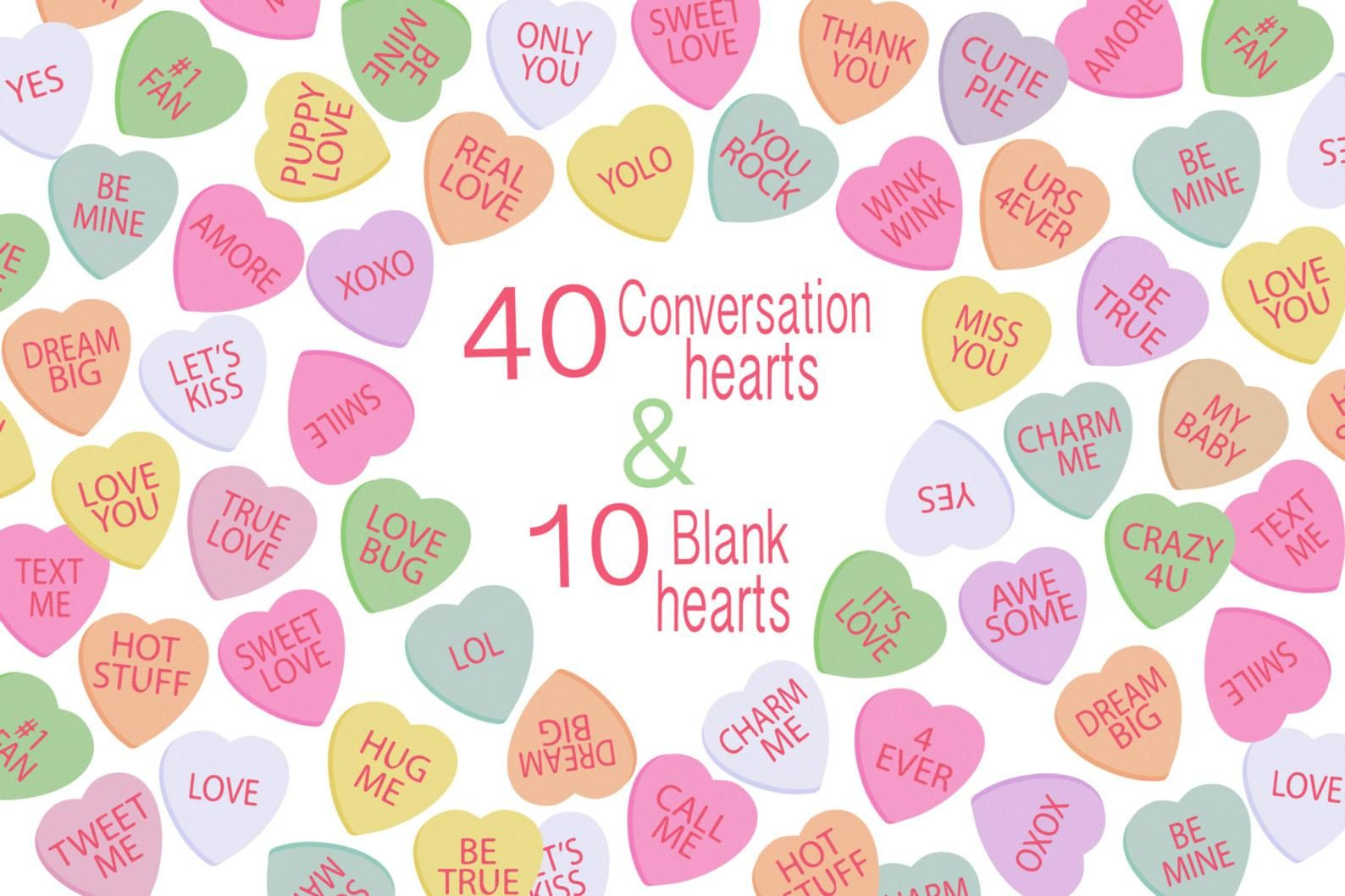 Valentines Day Clipart Candy Hearts Clipart Digital Etsy In 2020 Valentine Clipart Valentines Day Clipart Heart Candy