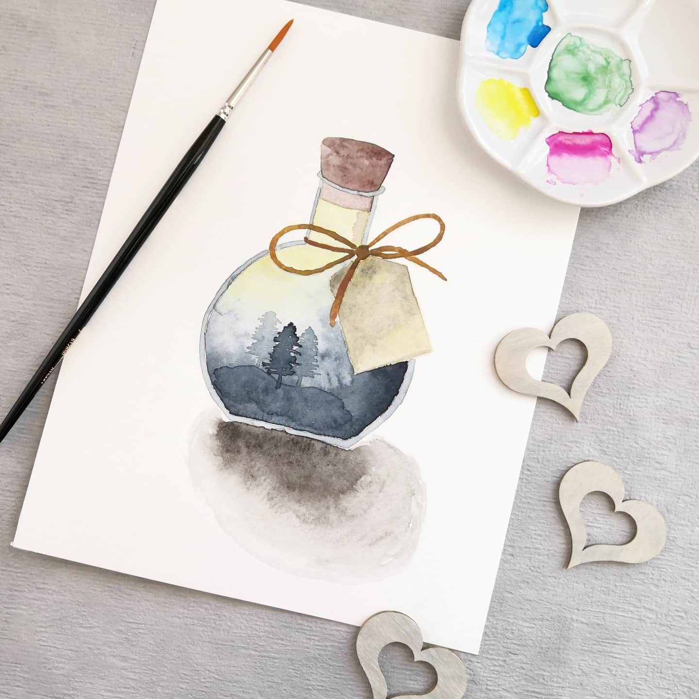 Watercolor Art Diy Bilder Kreativ Aquarell