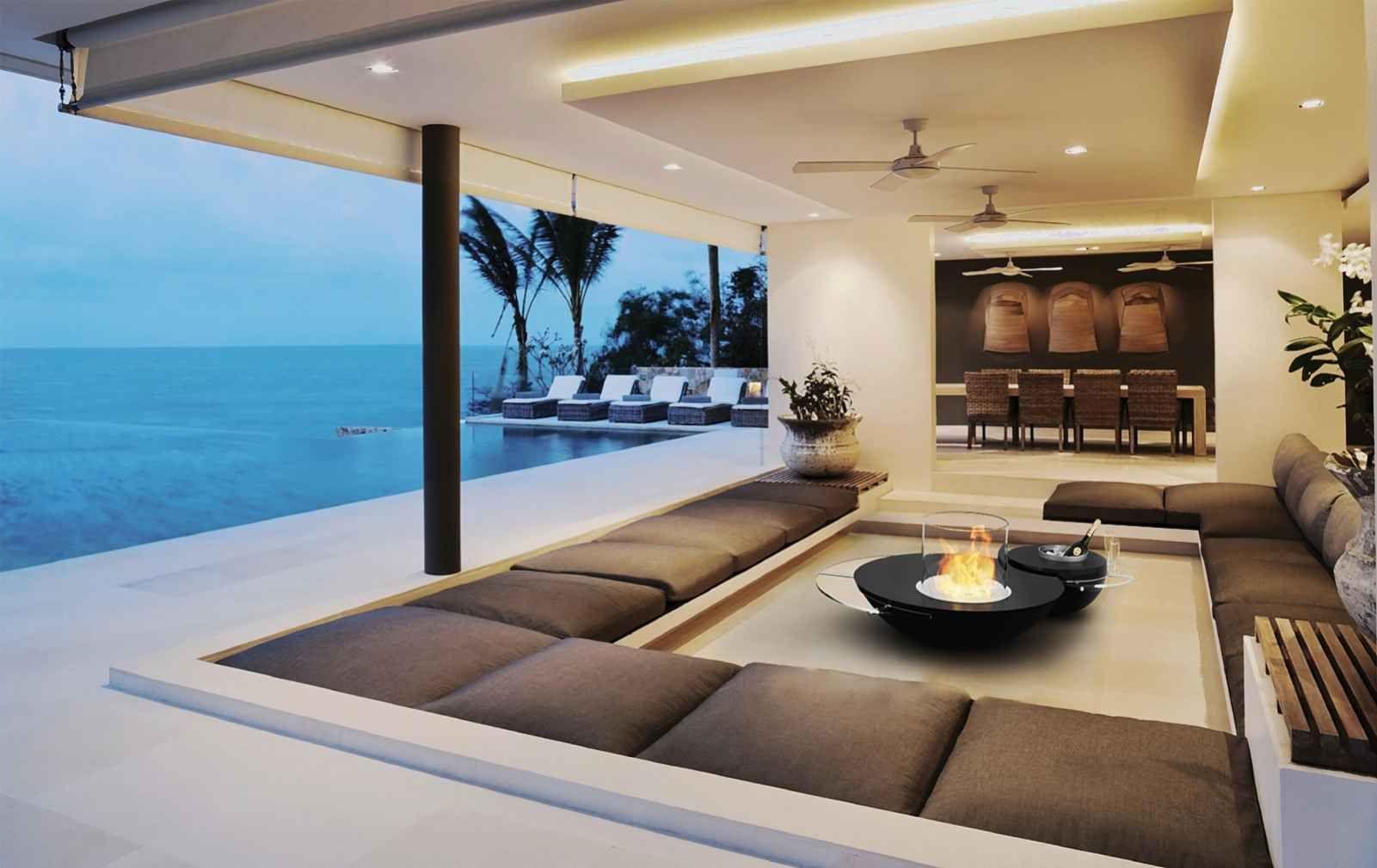 einrichtungsideen f r offene r ume mit deko bioethanol kamin von glamm fire garten balkon und. Black Bedroom Furniture Sets. Home Design Ideas