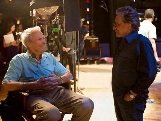 Clint Eastwood  Frankie Valli on the set of #JerseyBoys!!