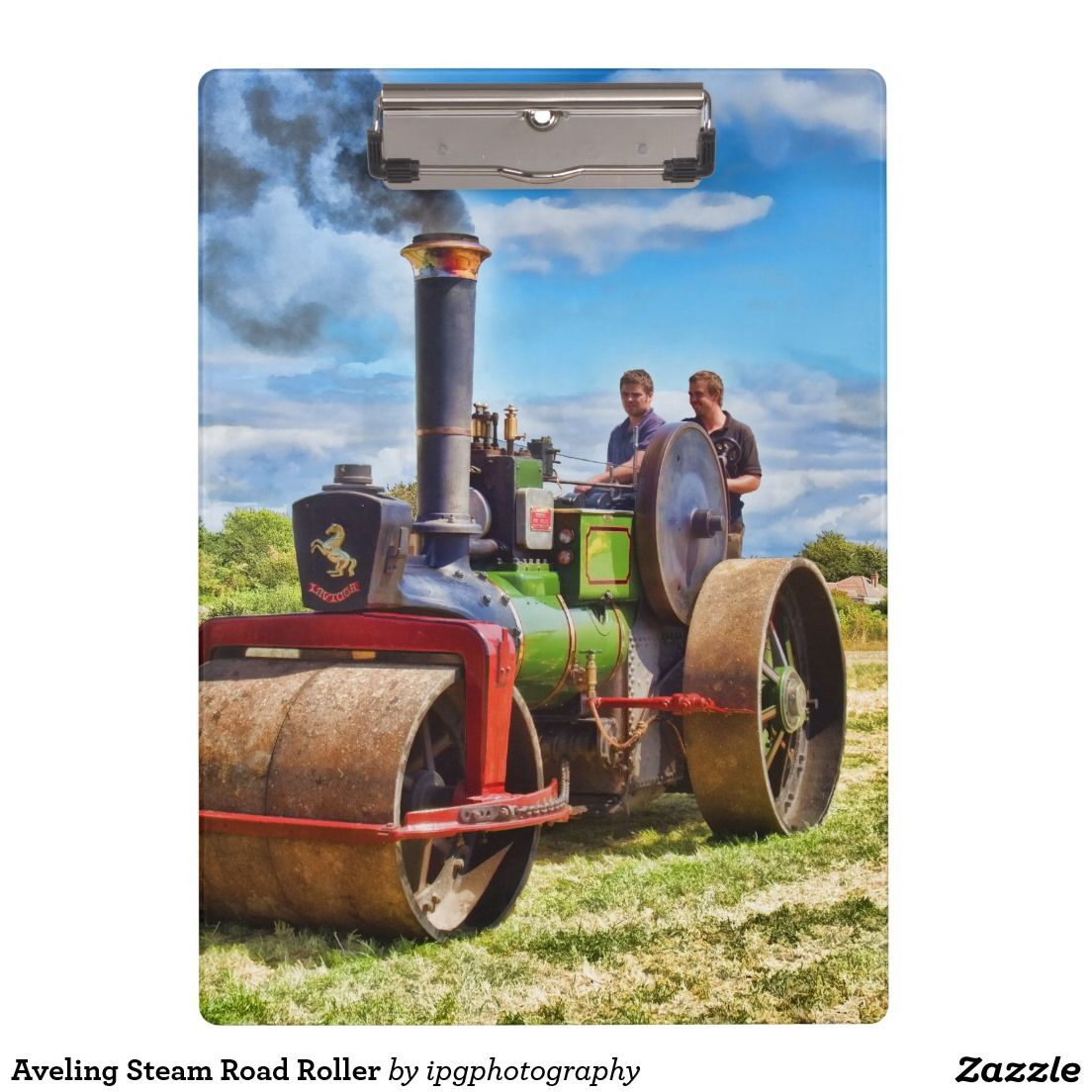 Aveling Steam Road Roller Clipboards