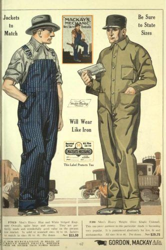 men s vintage workwear 1920s 1930s 1940s 1950s on men s insulated coveralls cheap id=15845