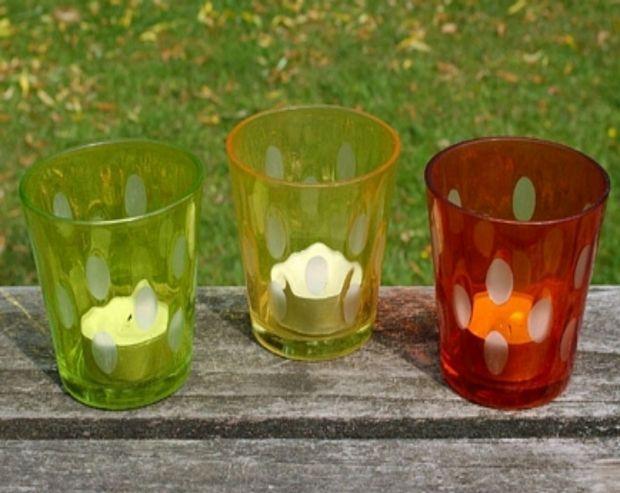 Set de 3 modelos de portavelas en forma de copa para iluminar las noches de verano en tu terraza o jardín.