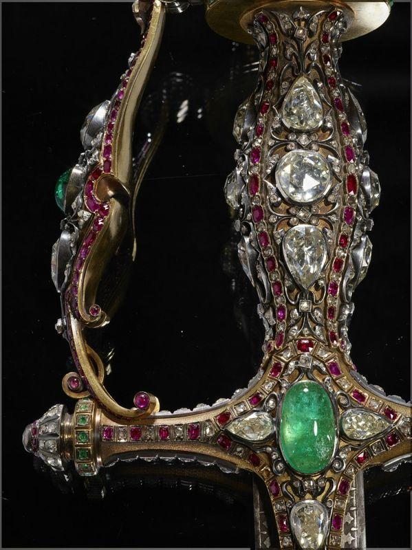 The Nizam Of Hyderabad Ceremonial Sword En Or Diamants