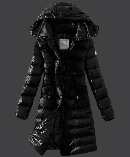 Moncler Winter Down Coat Women Hooded Slim Black #moncler #monclercoat