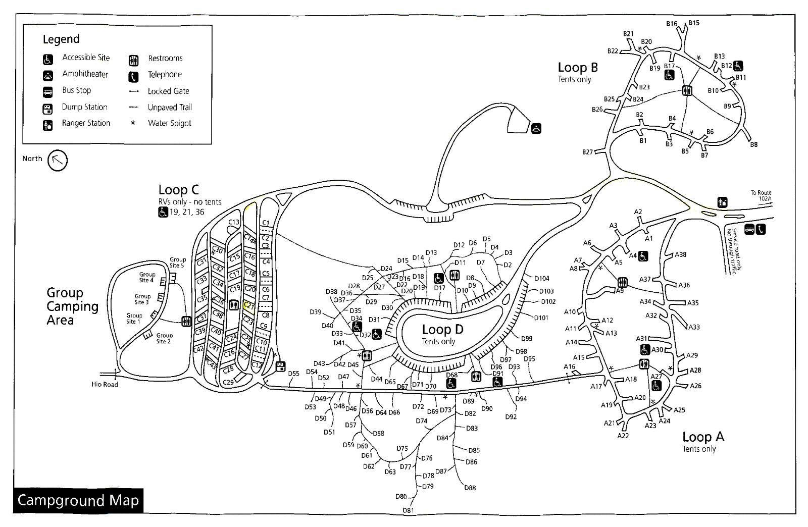 Acadia National Park Seawall Campground Map