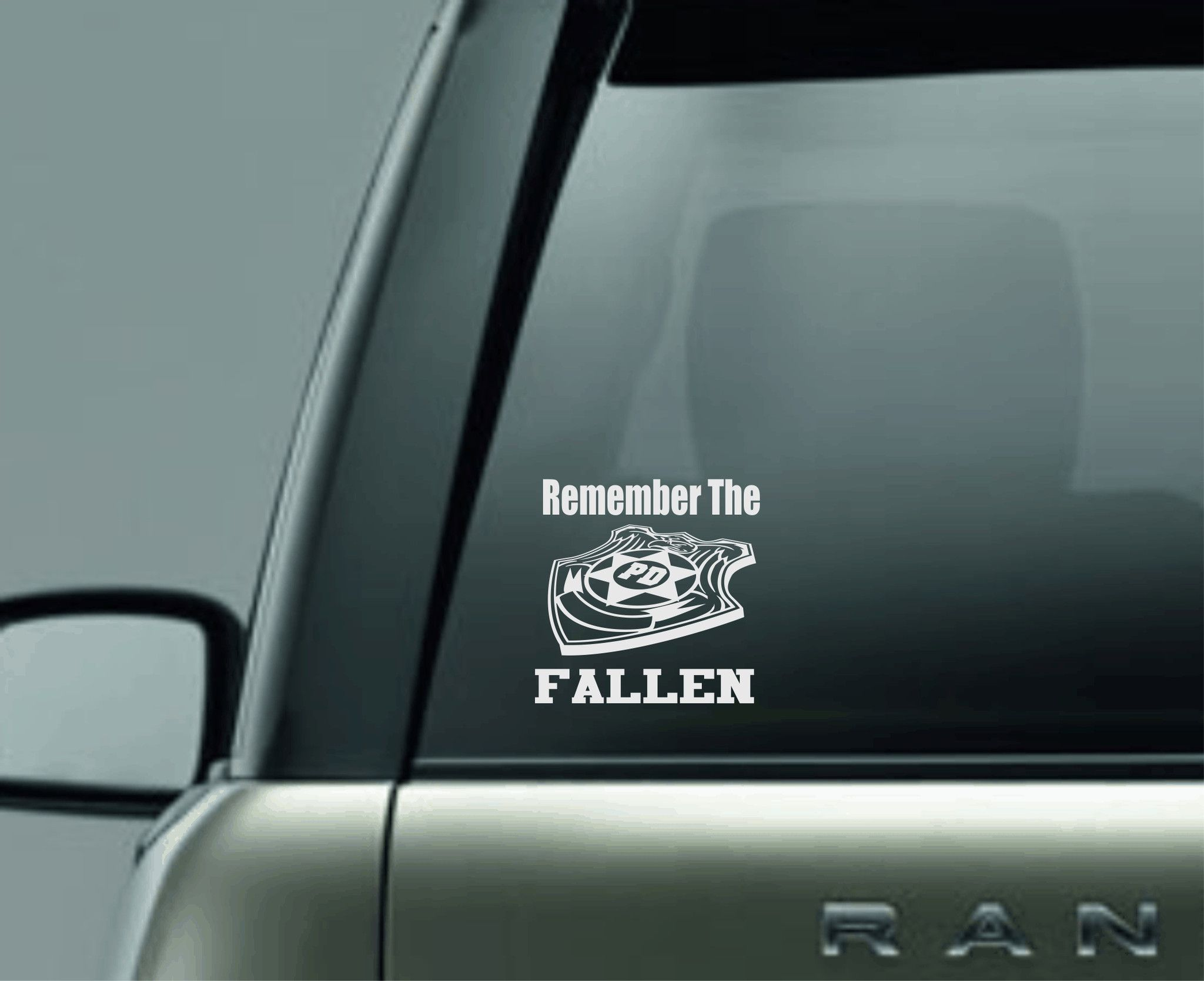 Remember The Fallen Police Car Decal Sticker Car Monogram Decal Car Decals Stickers Monogram Vinyl Decal [ 1669 x 2048 Pixel ]
