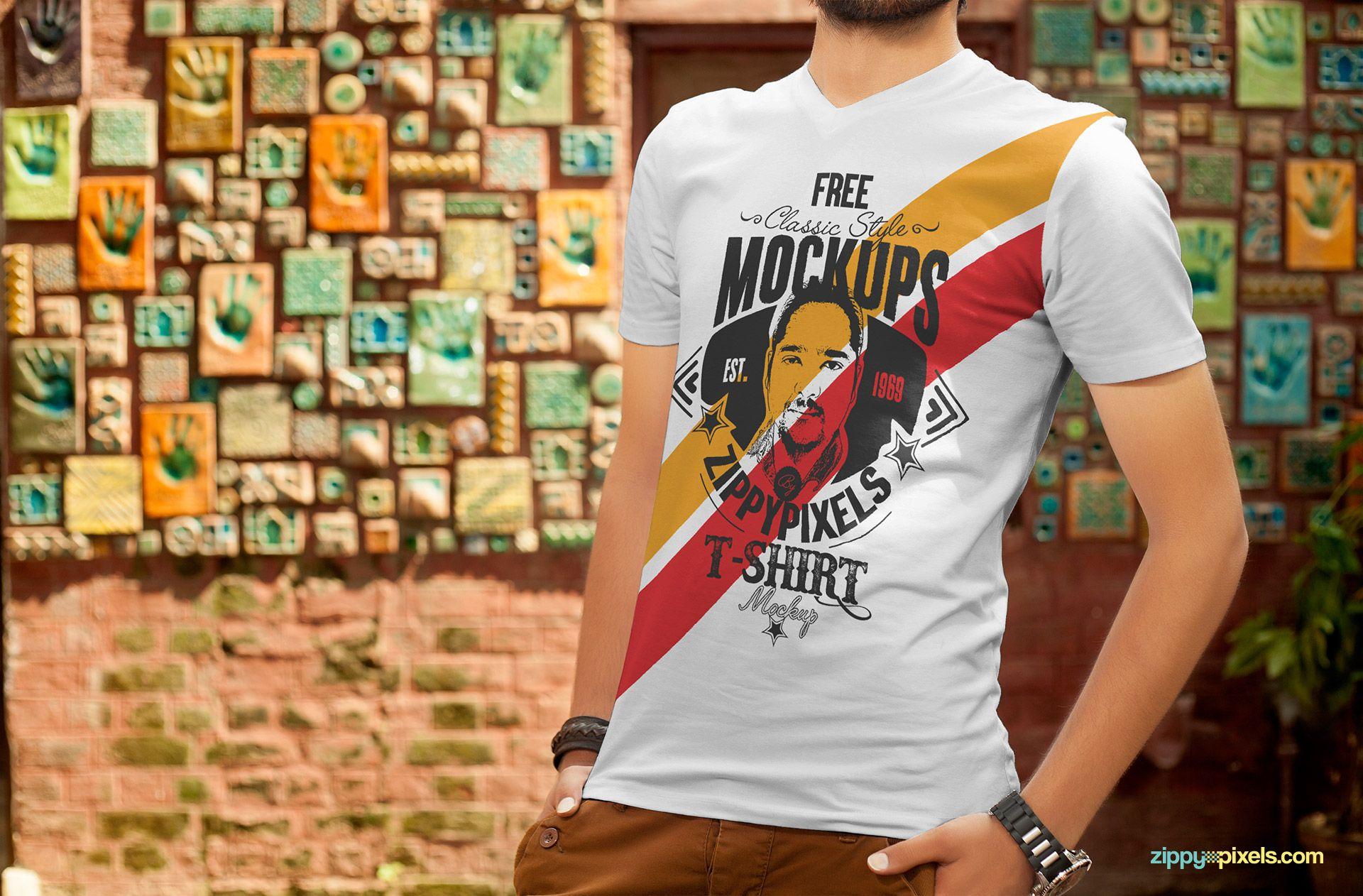 Download Free T Shirt Design Mockup Zippypixels Free T Shirt Design Shirt Mockup Clothing Mockup