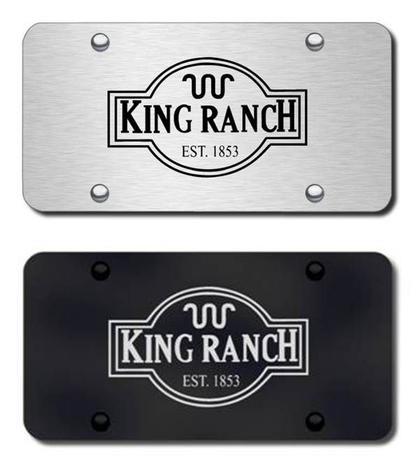 King Ranch Logo License Plate Vanity Tags Ford Accessories
