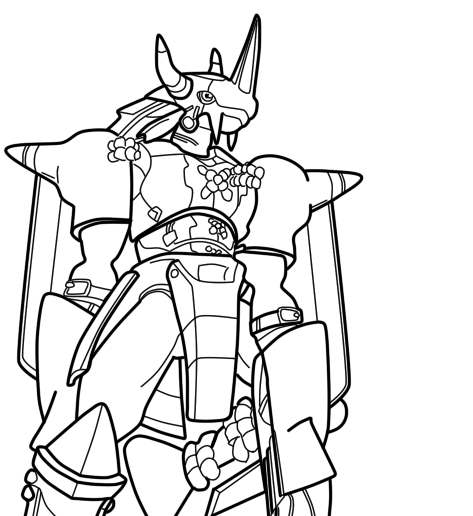 Digimon Wargreymon Coloring Pages Coloring Pages