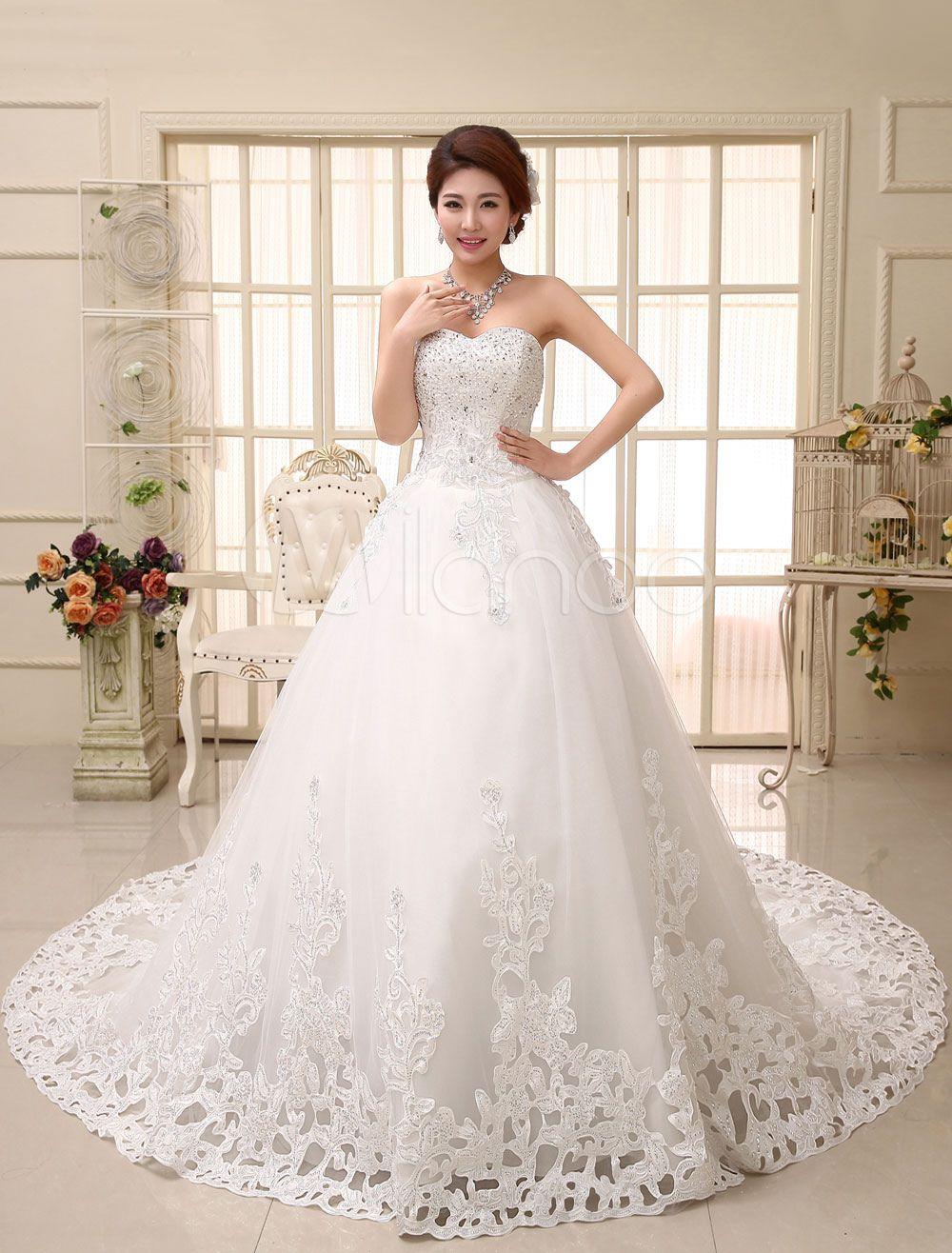 Lace wedding dress princess ball gown bridal dress ivory