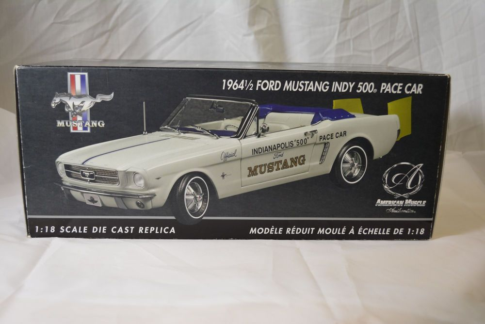 1964 1/2 Ford Mustang Indy 500 Pace Car 1:18 Die Cast American Muscle Chrome #AmericanMuscleAuthentics #Ford