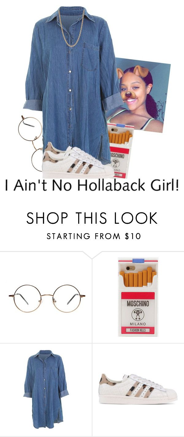 """😛😛😛"" by xtiairax ❤ liked on Polyvore featuring Moschino, adidas Originals and Givenchy"