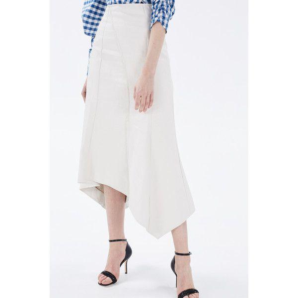 A.W.A.K.E.Skirt (875 BRL) ❤ liked on Polyvore featuring skirts, african print skirt, african skirts, white skirt, 80s skirt and white knee length skirt