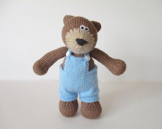 Teddy Bear toy knitting pattern | stricken , Puppen, Tiere usw ...