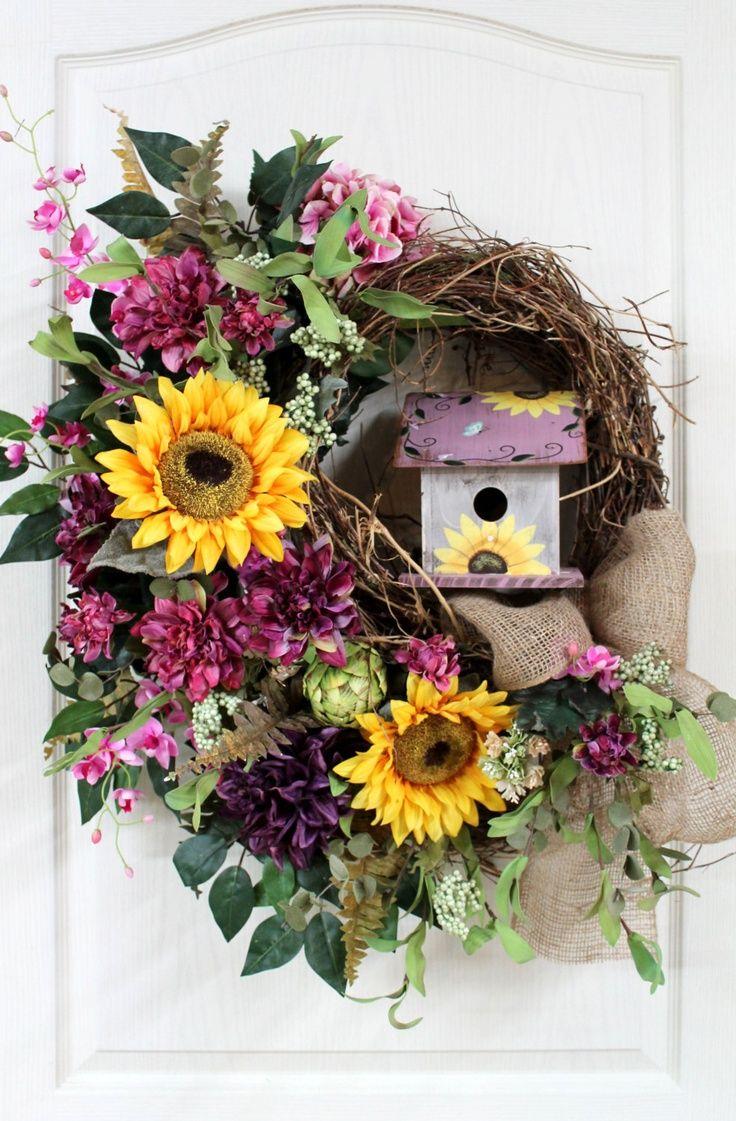 378 best birdhouse wreaths images on pinterest summer