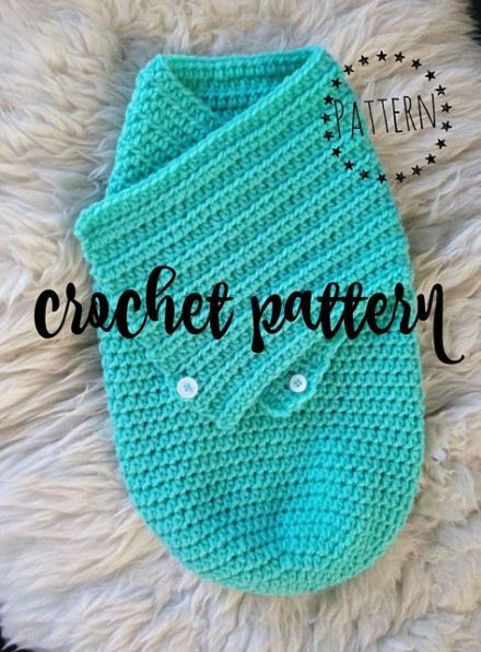 Super Crochet Baby Cocoon With Buttons Photo Props 64 Ideas #crochetbabycocoon