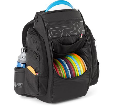 The Grip Eq B15 Disc Golf Bag Evolves State Of Art In Innovation With An 18 Compartment And Adjule 2 Putter Quiver