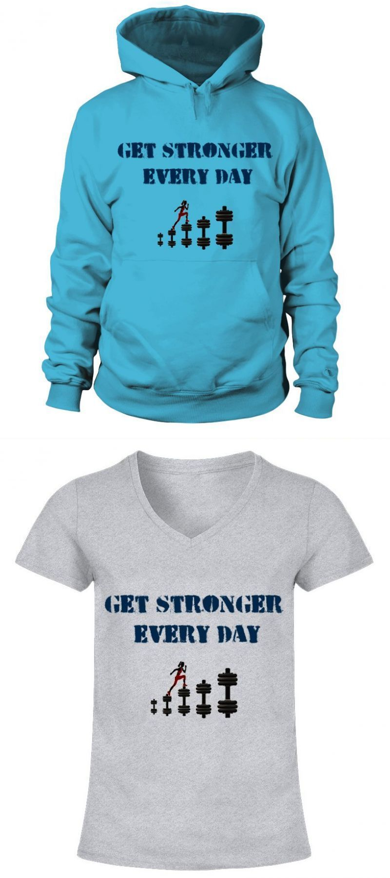 ac48db150698 T-shirts with fitness sayings get stronger every day goodlife fitness t  shirt  t-shirts  with  fitness  sayings  get  stronger  every  day   goodlife  shirt ...